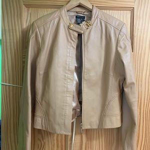 BCBGMaxAria Tan Leather Jacket